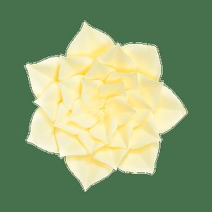 Fleur En Papier Gardénia Jaune Pâle 30 cm