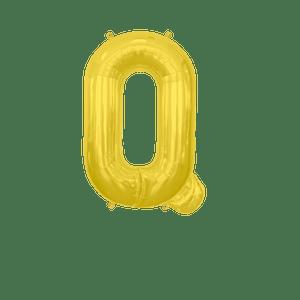 Ballon Lettre Q Or 35 cm