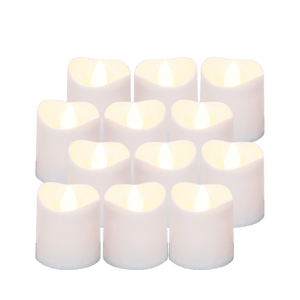 Bougie Led votive Ivoire 4 cm x12