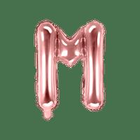 Ballon Lettre M Rose Champagne 35cm