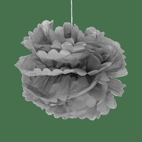 Pompons Gris 40cm x2