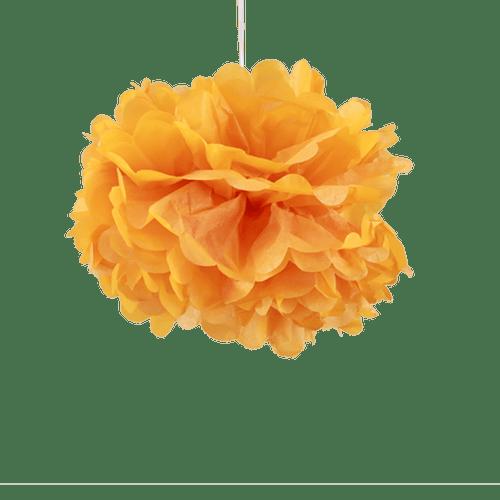 Décoration Pour Mariage & Fête Pompons Orange 30Cm (Lot De 6 Pièces)