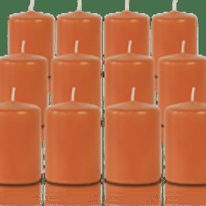 Pack de 12 bougies votives Citrouille 5x7cm
