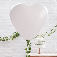 Ballon Géant Coeur Blanc x3