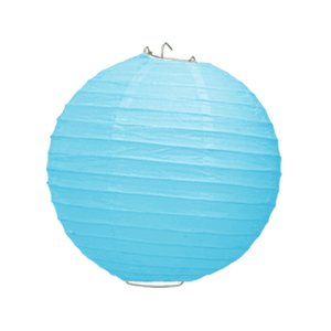 Boule Papier Turquoise 20 cm x3