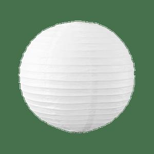 Boule papier 30cm Blanc