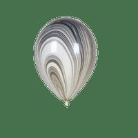 Ballon Marbré Noir x1