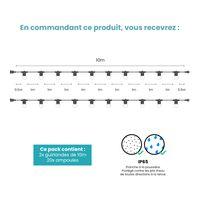 Kit Guirlande Guinguette 20m IP 65 Transparente