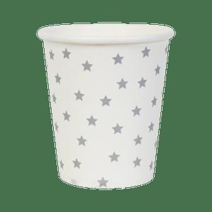 Gobelets Étoiles Argent x8