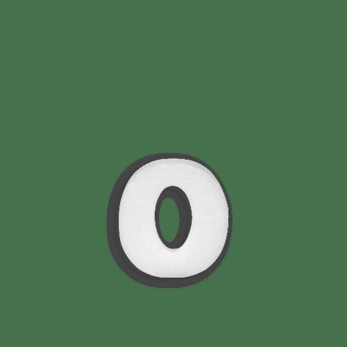 Lettre O en Polystyrène 10cm