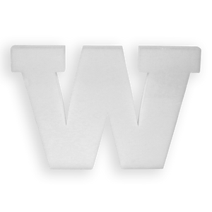 Lettre W en Polystyrène 20cm