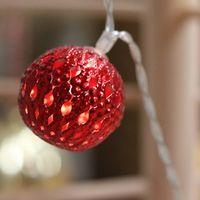 Guirlande Lumineuse Boules Marocaines Rouge