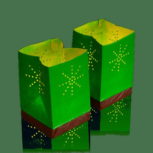 Sac Lumineux flottant Tulum vert x2