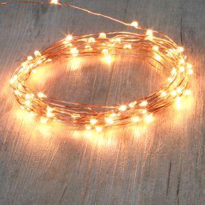 Guirlande Micro LED 8M Cuivre  80 LEDs Blanc Chaud