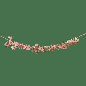 Guirlande Joyeux anniversaire Rose Gold 1,80 m