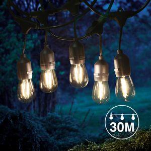 Guirlande guinguette 30M pendante filament LED 30 bulbes