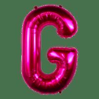 Ballon Lettre G Fuchsia 90 cm