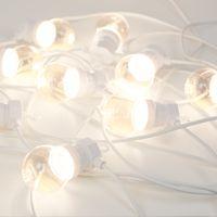 Complément Guinguette 10M Câble Blanc Bulbes Transparent Sans Prise
