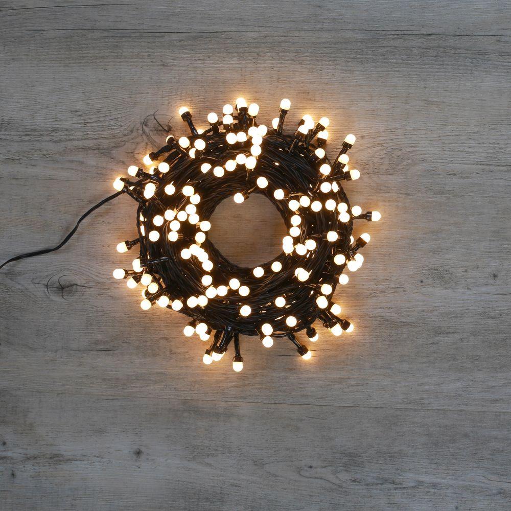 Guirlande Lumineuse 240 LEDs Gros Bulbes Blanc Chaud 18 m