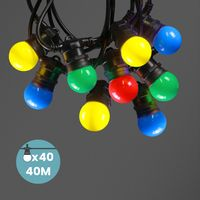 Kit Guirlande Guinguette 40m IP 65 Multicolore