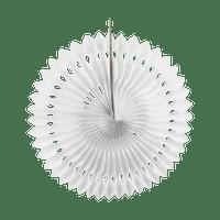 Rosace papier 30 cm Blanc
