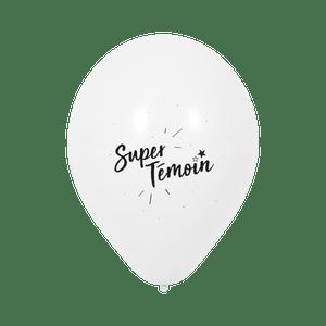 """Ballon Mariage """"Super témoin"""" Blanc"""