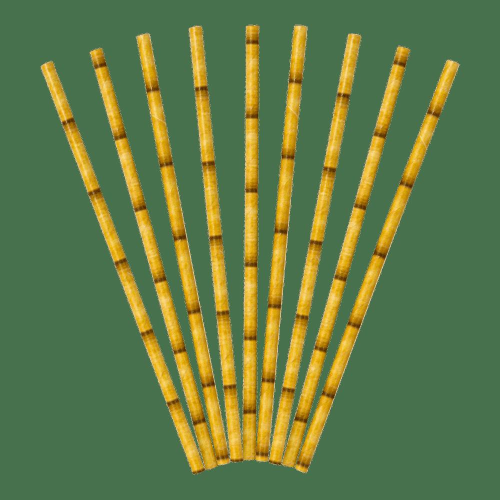 Lot De 30 Paille Effet Bambou Papier Bambou Naturelle x30