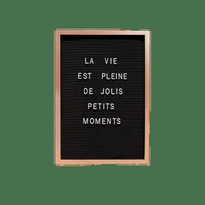 Letter Board 45cm Noir et Cuivre