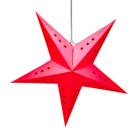 Etoile déco rouge 60cm