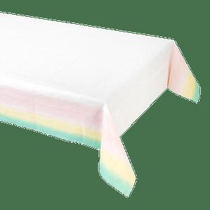 Nappe papier blanc dégradé arc en ciel pastel