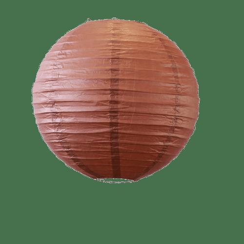 Decoration Pour Mariage, Fête, Anniversaire Boule Papier 30Cm Chocolat (Lot De 5 Pièces)
