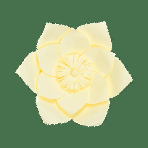 Fleur En Papier Clématite Jaune Pâle 30 cm