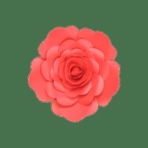 Fleur En Papier Rose Rouge 20 cm