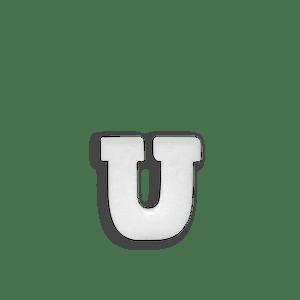 Lettre U en Polystyrène 10cm