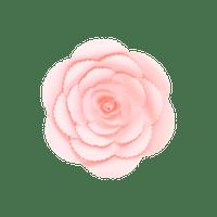 Fleur En Papier Rose Ancienne Rose Pâle 20 cm