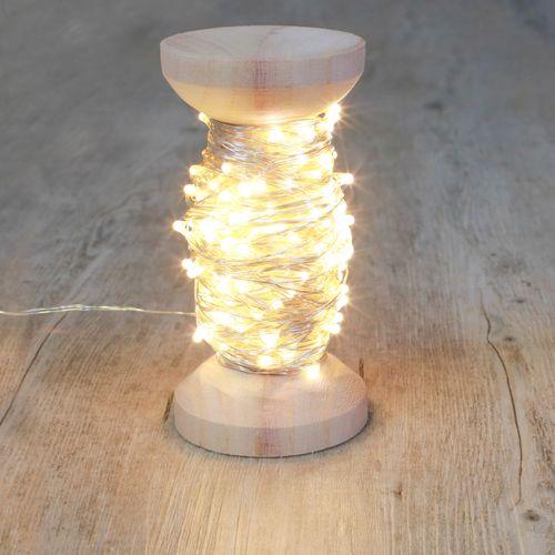 Guirlande Micro-Led Argentée 20 m avec Bobine 200 LEDs