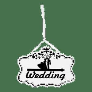 Panneau Wedding Vintage Blanc 20cm